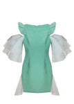 CELADON SHIFT DRESS