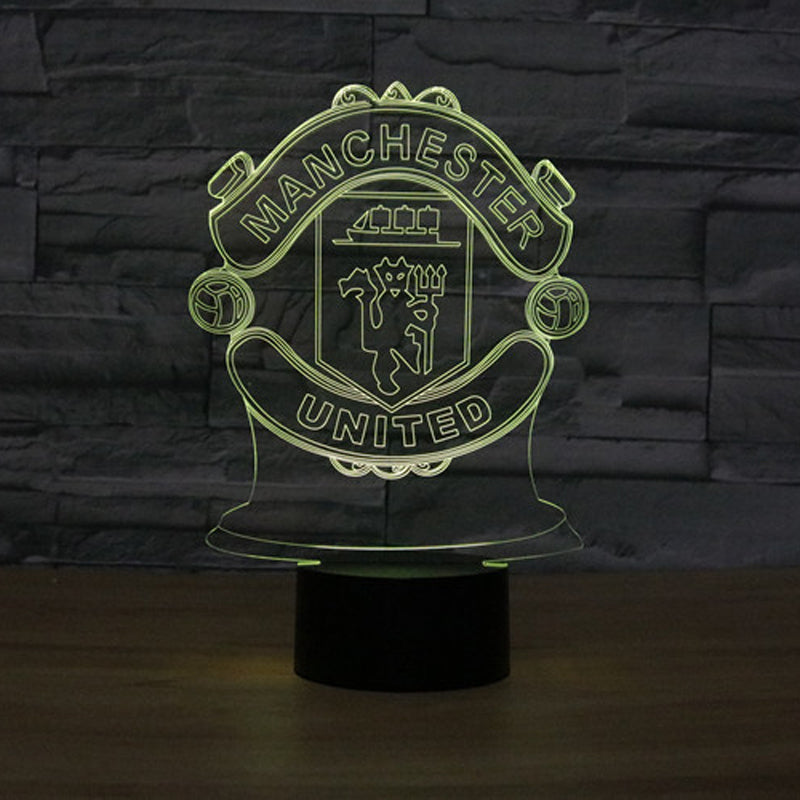 7 Colors Change Innovative Football Club 3D LED Night Ligh