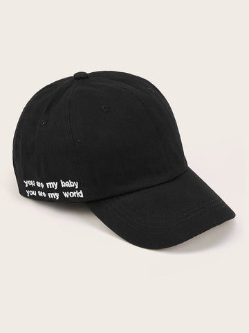 Kids Letter Embroidery Baseball Cap - QAS KIDS TORE