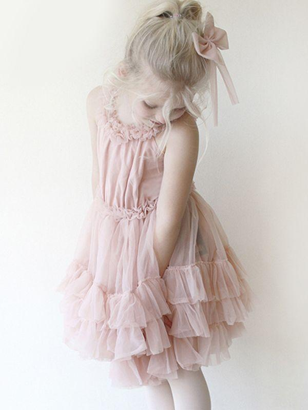 Sweet Tulle Off Shoulder Baby Girl Dress - QAS KIDS TORE