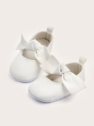 Baby Girls Bow Decor Flats - QAS KIDS TORE