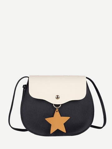 Kids Star Charm Flap Bag - QAS KID  STORE