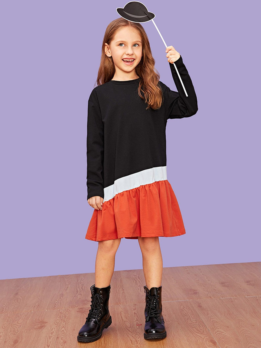 Girls Cut and Sew Dress - QAS KIDS TORE