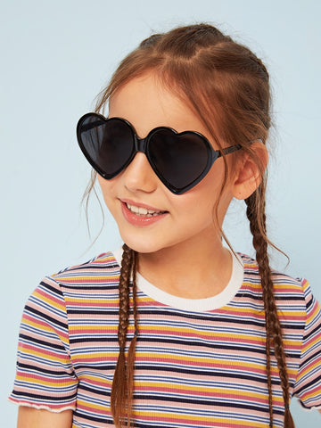 Kids Heart Shaped Frame Sunglasses - QAS KID  STORE