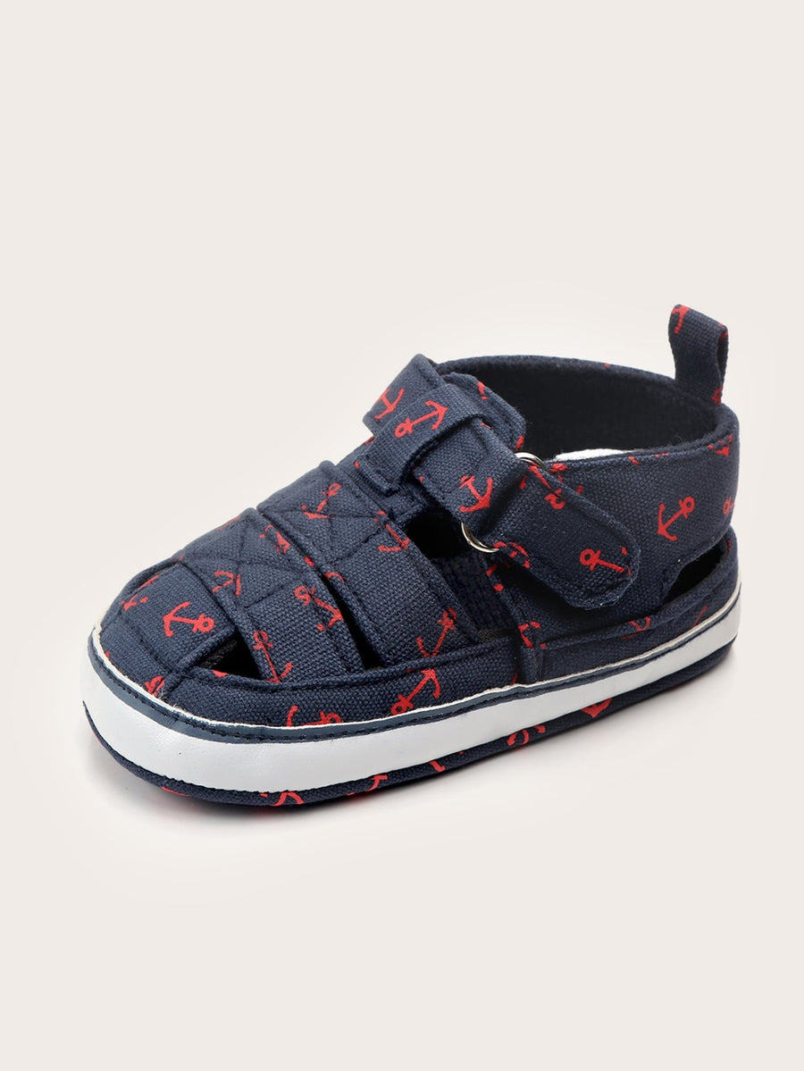 Baby Hook-and-loop Straps Decor Sneakers - QAS KIDS TORE