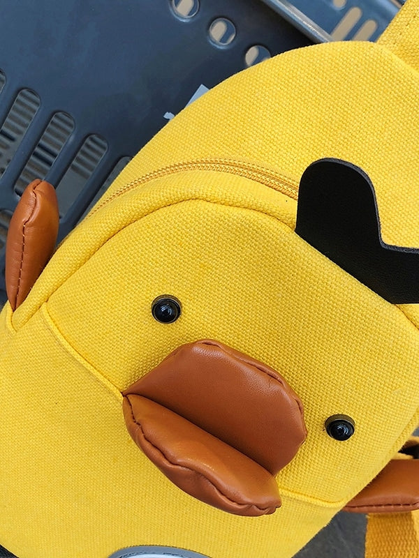 Kids Duck Design Canvas Sling Bag - QAS KIDS TORE