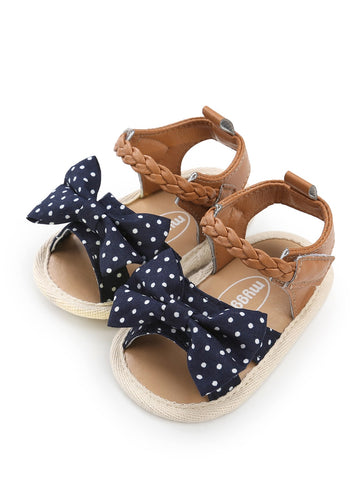 Baby Polka Dot Bow Tie Sandals - QAS KID  STORE