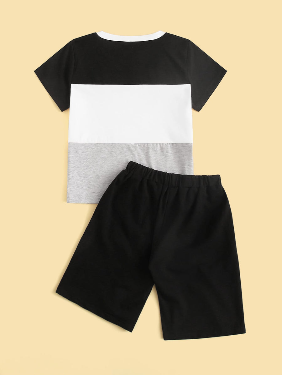 Boys Color Block Pajama Set - QAS KIDS TORE