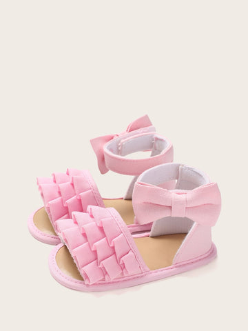 Baby Girls Ruffle Decor Sandals - QAS KID  STORE