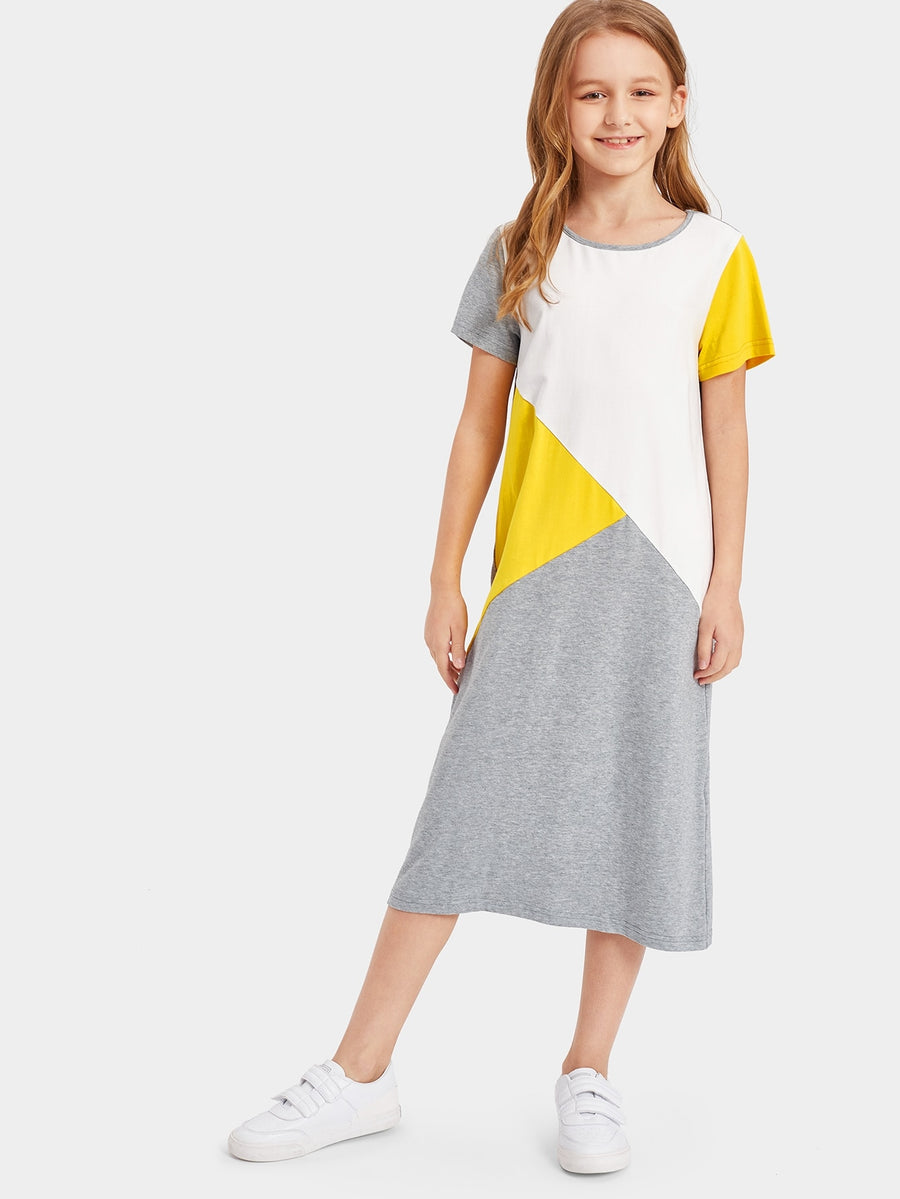 Girls Cut and Sew Tunic Dress - QAS KIDS TORE