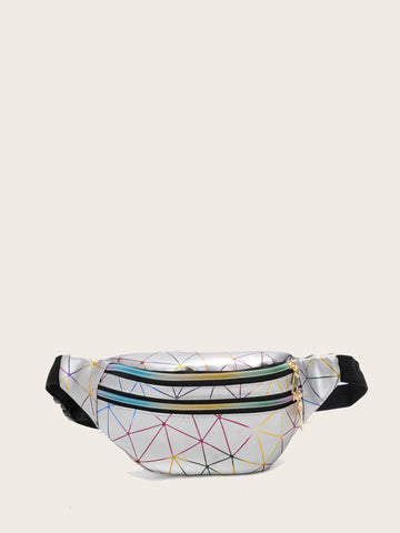 Kids Geometric Print Fanny Pack - QAS KID  STORE