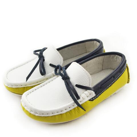NEW Spring/Autumn Children Casual Shoes Boys Loafers Fashion Trend Dress Shoes Baby Toddler Flats Kids Genuine Leather Shoes 04 - QAS KIDS TORE