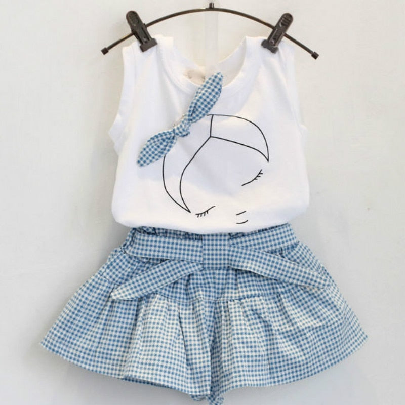 Cotton print short sleeve T-shirt and shorts - QAS KIDS TORE