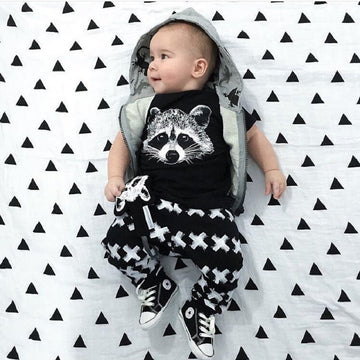 Newborn T-shirt+Pants Suit - QAS KID  STORE