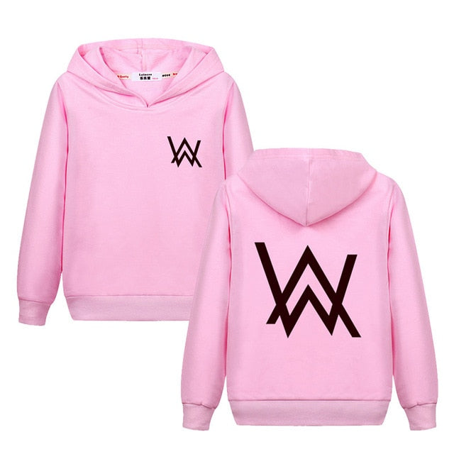2018 Boys Girls Fashion DJ Hoodie Junior AW Printed Sweater Kids Cotton Pullover Alan Walker Fade Faded Sing Me To Sleep Alone - QAS KIDS TORE
