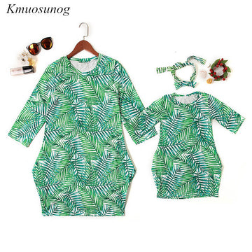 Family Matching Outfits Dress Mother Daughte - QAS KID  STORE