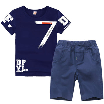 Sport Suit Short Sleeve O-neck - QAS KID  STORE