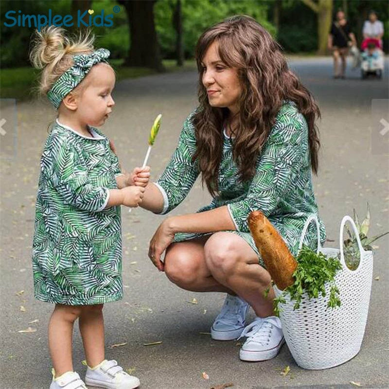 2019 Spring Kids Clothes Mom Daughter - QAS KIDS TORE