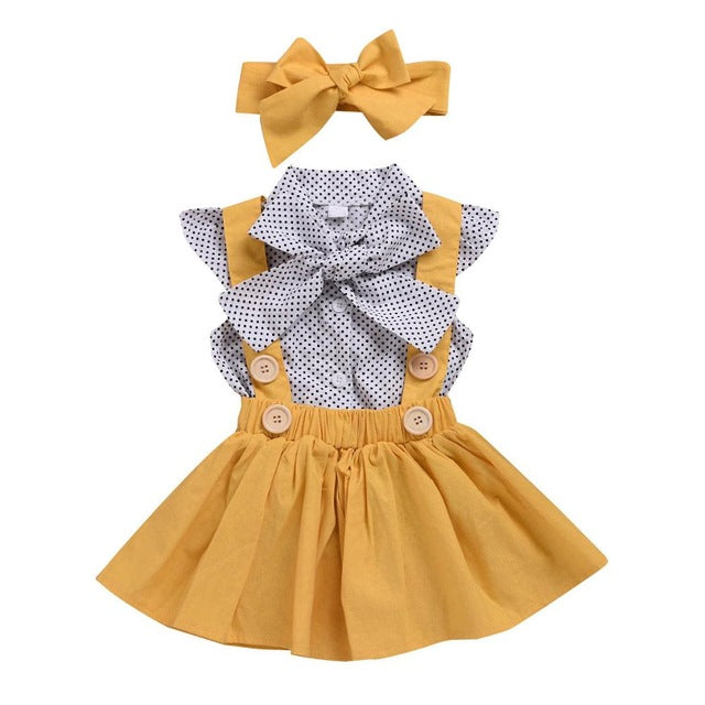 Toddler Chiffon bowknot coat+Pants - QAS KIDS TORE