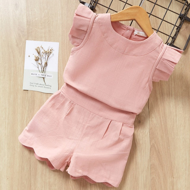 Summer Fashion Chiffon short sleeve T-shirt - QAS KIDS TORE