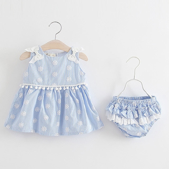 Set Striped Printed Cute Clothing Sets - QAS KIDS TORE