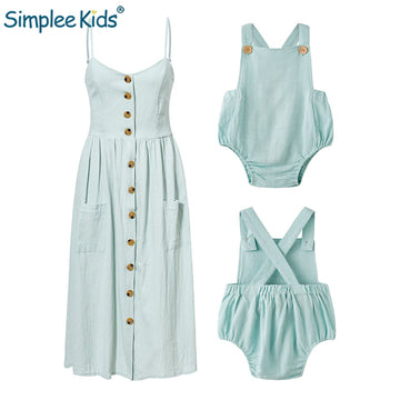 Mommy and Me Clothes Elegant Button Women - QAS KIDS TORE