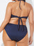 LUMINARY MIDNIGHT RIBBED HALTER BIKINI - allconsort
