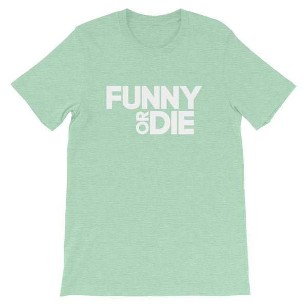 Funny Or Die Stacked Logo (White) Tee