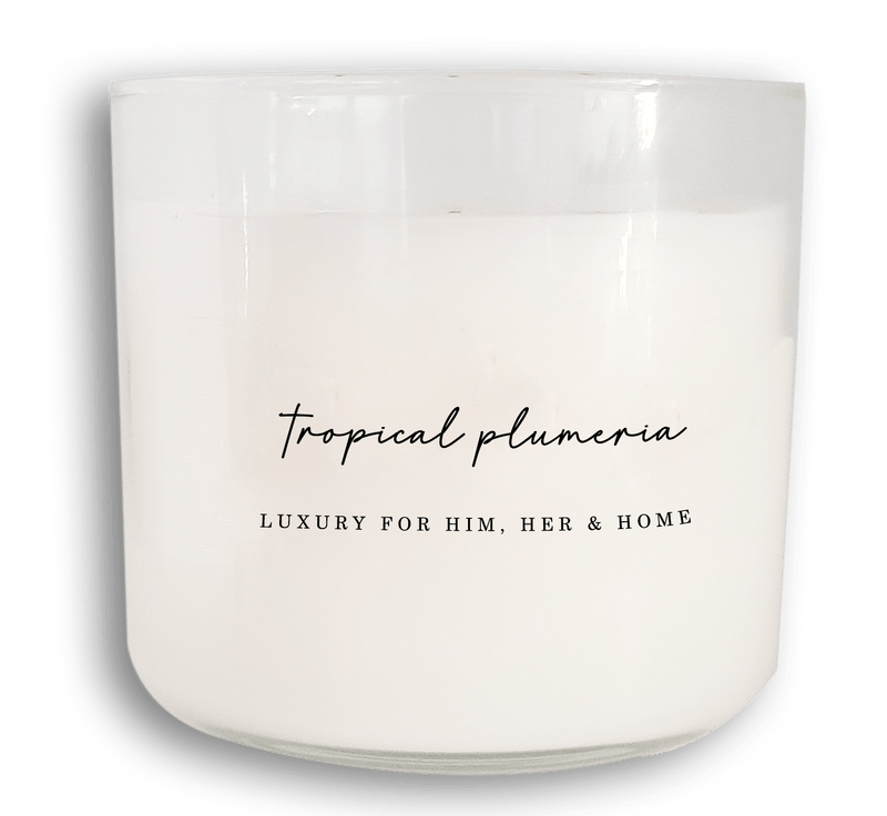 Tropical Plumeria - Black Luxe Candle Co.