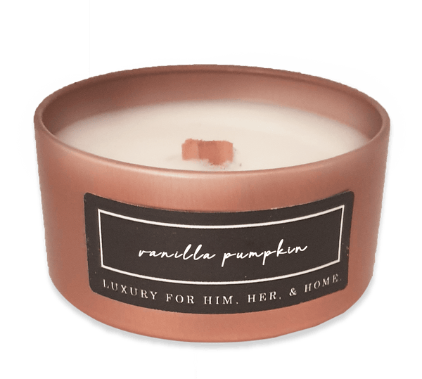 Wood Wick Vanilla Pumpkin - Black Luxe Candle Co.