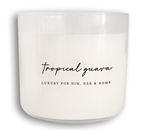 3-Wick Tropical Guava - Black Luxe Candle Co.