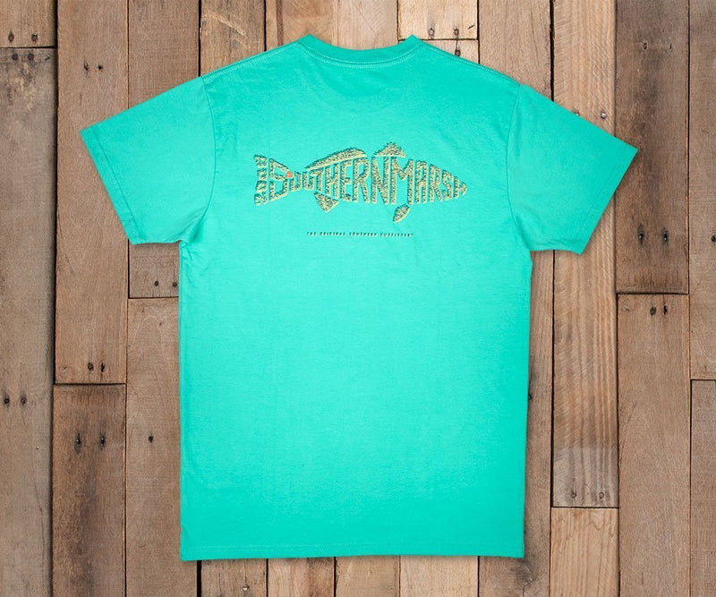 Southern Marsh Wildlife Words-Redfish Tee