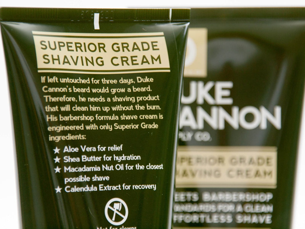 Superior Grade Shaving Cream by Duke Cannon
