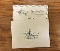 Riverbend Gift Certificates