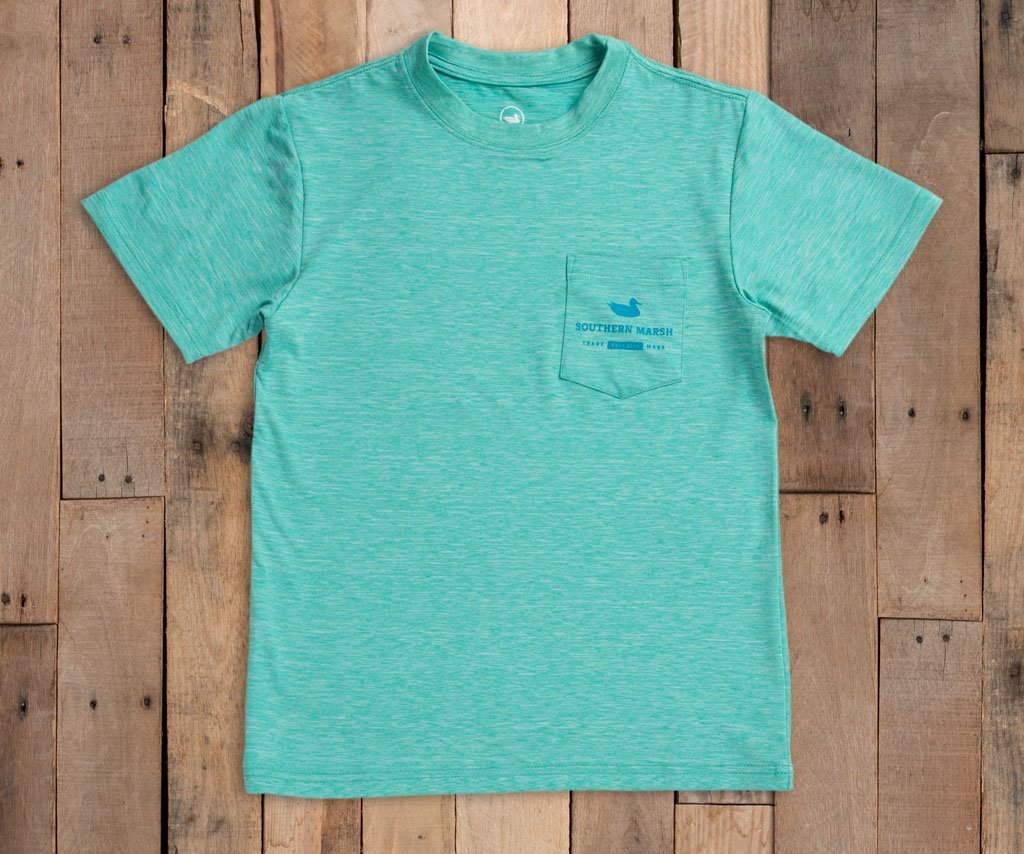 Southern Marsh Youth Fieldtec Heathered Tee