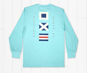 Southern Marsh Youth Heathered Flags Tee