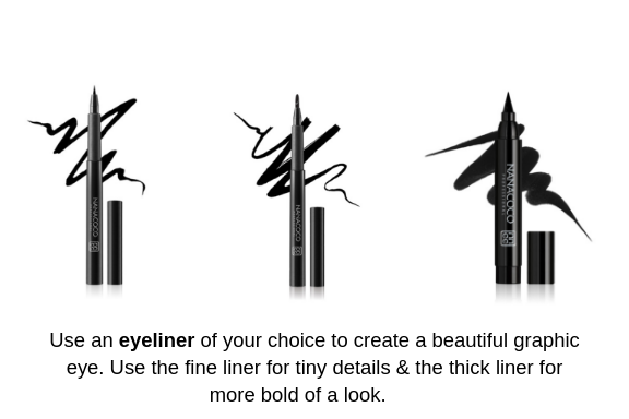 Nanacoco Thin, Thick, and duo Liquid Eyeliner