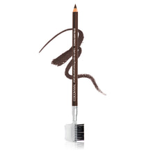 "Load image into Gallery viewer,  Eye Pencil w/Eyebrow Brush & Comb 7"" Dark Brown"