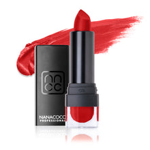 Load image into Gallery viewer, Matte Madness Lipstick Wild One Bright Neon Red-Orange