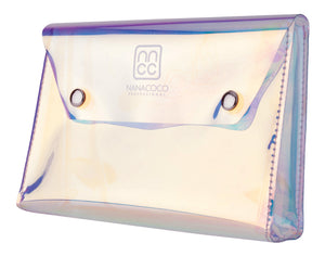 Holographic Makeup Bag with Magnet Closure 19.5x12.5x4cm Holographic Transparent