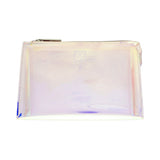 Holographic Makeup Bag with Zipper Closure 21.5x14.5x4cm Holographic Transparent