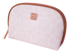 Makeup Bag 22x15.5x4.8cm Pink Floral Round Top