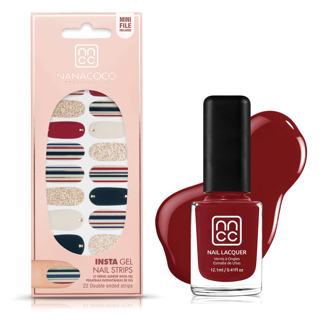 Nail Sticker and Lacquer Set