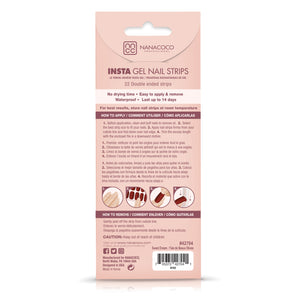 Sweet Dream Insta Gel Nail Strips Back of Package Instructions