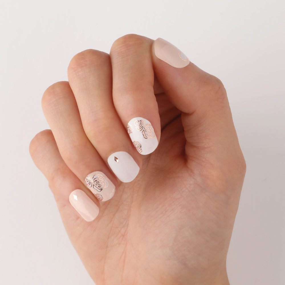 Rose Gold Garden Insta Gel Nail Strips
