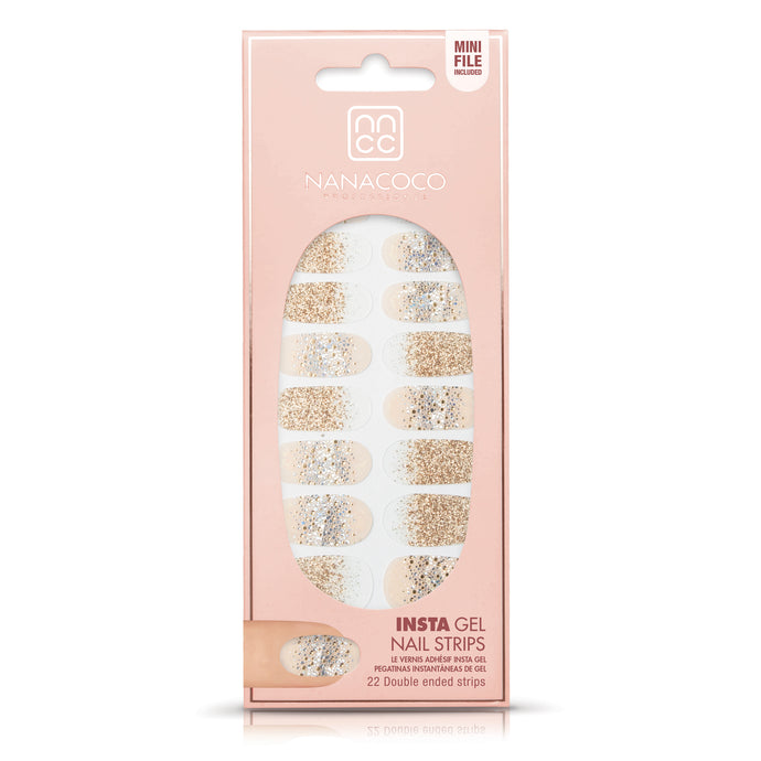 Dazzling Glitter Insta Gel Nail Strips in package
