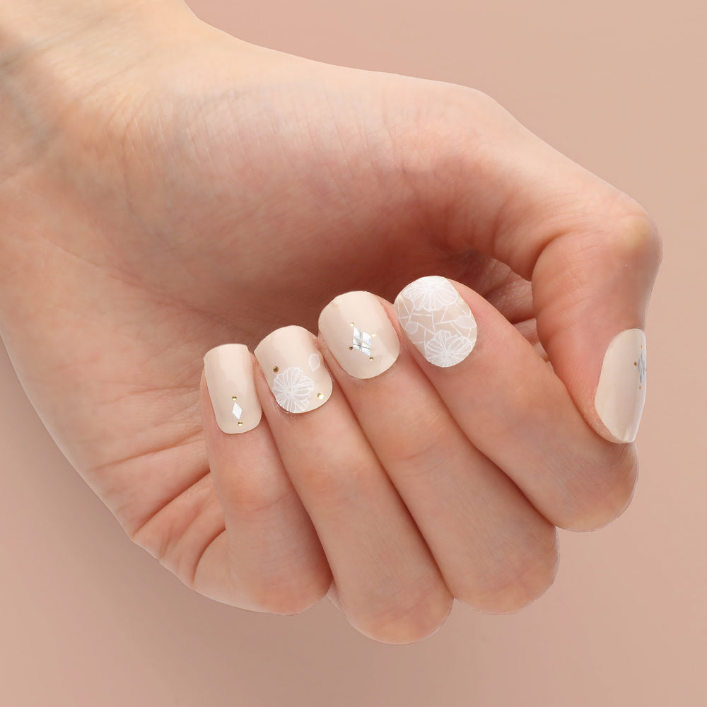 Wedding Lace Insta Gel Nail Strips