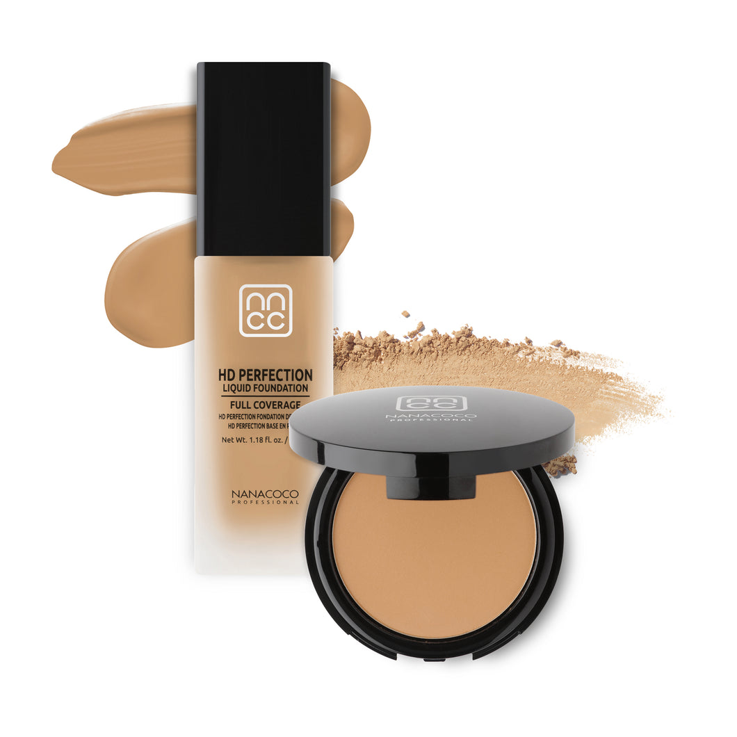 HD Perfection Liquid and Powder Foundation Set- Ivory