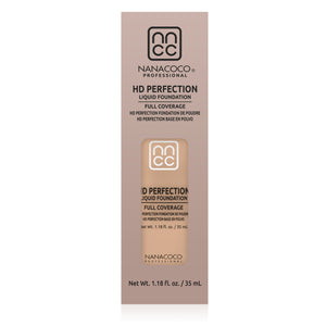 HD Perfection Liquid Foundation Packaging