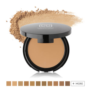 HD Perfection Powder Foundation with color swatches